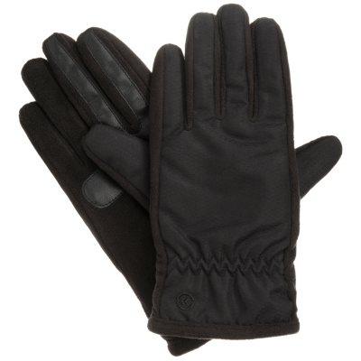 Isotoner smarTouch Matrix Nylon Ladies Gloves, Black (XLarge)