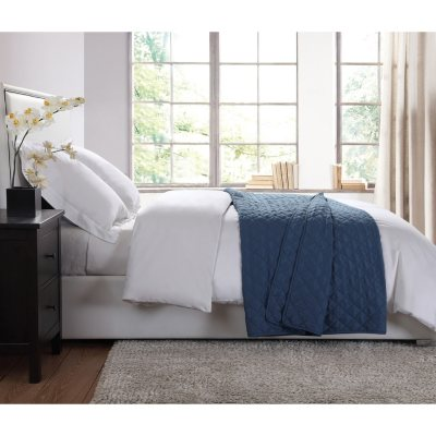 London Fog Extra Soft Garment Washed Blanket, Blue (Queen).  Ends: Feb 8, 2016 9:08:00 PM CST