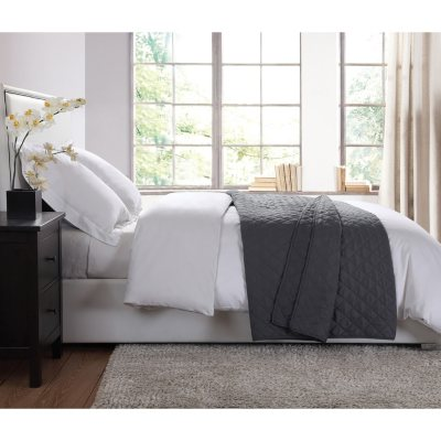 London Fog Extra Soft Garment Washed Blanket, Grey (Queen).  Ends: Feb 8, 2016 12:00:00 AM CST