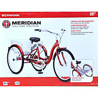 "Schwinn Meridian Full-Size Tricycle, 26"" (Red)"