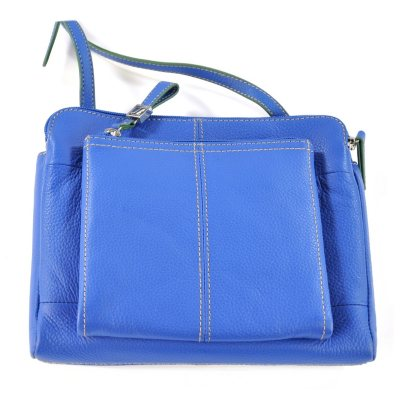 Tignanello  Leather Triple Compartment Crossbody, Blue.  Ends: Oct 23, 2014 8:55:00 AM CDT