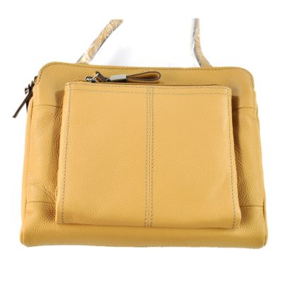 Tignanello  Leather Triple Compartment Crossbody, Tan.  Ends: Oct 21, 2014 1:45:00 PM CDT