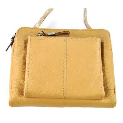 Tignanello  Leather Triple Compartment Crossbody, Tan.  Ends: Oct 31, 2014 9:51:00 AM CDT