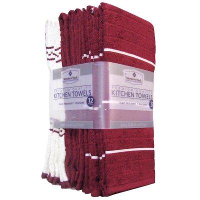 Member's Mark Kitchen Towels, Burgandy (12-pack).  Ends: Jun 26, 2016 2:35:00 PM CDT