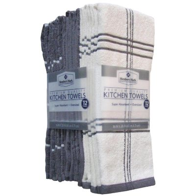 Member's Mark Kitchen Towels, Grey (12-pack).  Ends: May 31, 2016 6:35:00 PM CDT