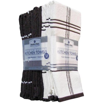 Member's Mark Kitchen Towels, Chocolate (12-pack).  Ends: May 31, 2016 8:25:00 AM CDT