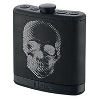 Home Portable Flask Shaped Bluetooth Speaker with, Black Skull