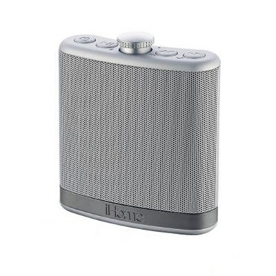 Home Portable Flask Shaped Bluetooth Speaker with Case, Silver