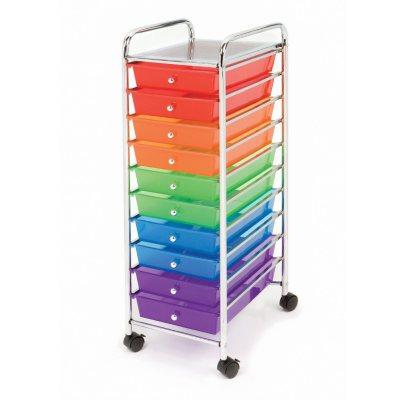 Seville 10 Drawer Cart, Multi-Color.  Ends: Feb 8, 2016 12:20:00 AM CST