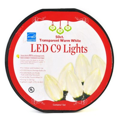Everstar Led C9 White Lights - 50 Count.  Ends: Apr 24, 2014 1:00:00 AM CDT