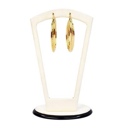 Triple Oval Hoop Earrings, 14k Gold