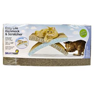 Smartpaw cat hammock and scratcher brown blue auctions - Cat hammock scratcher ...