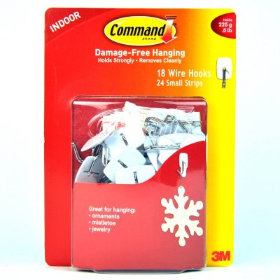 3M Small Indoor Wire Hooks (18 pk.).  Ends: Dec 23, 2014 6:00:00 AM CST