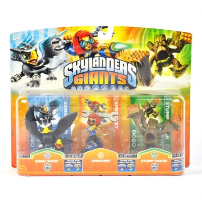 Skylanders Giants Triple Pack (Sonic Boom, Sprocket, Stump Smash).  Ends: Mar 8, 2014 8:55:00 AM CST