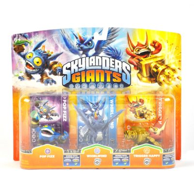 Skylanders Giants Triple Pack (Pop Fizz, Whirlwind, Trigger Happy).  Ends: Mar 9, 2014 5:40:00 PM CDT