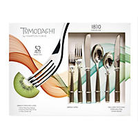 Tomodachi 52-Piece Flatware Set, Serena Satin