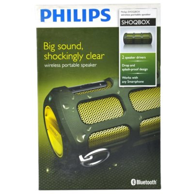 Philips ShoqBox Bluetooth Wireless Portable Speaker, Green.  Ends: Nov 26, 2014 7:40:00 PM CST