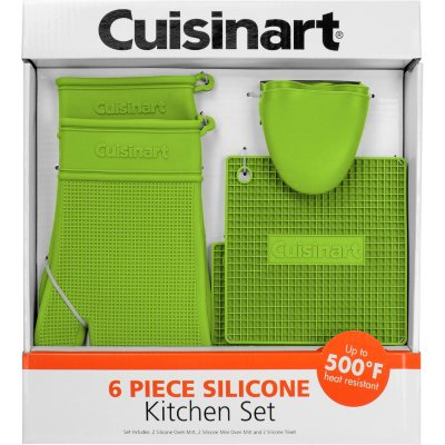 Cuisinart 6-Piece Silicone Kitchen Set, Green.  Ends: Apr 28, 2015 1:35:00 PM CDT