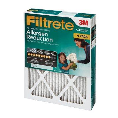 """Filtrete Allergen Reduction Filter, 14"""" x 25"""" x 1"""" (4-Pack)"""