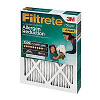 "Filtrete Allergen Reduction Filter, 16"" x 20"" x 1"" (4-Pack)"