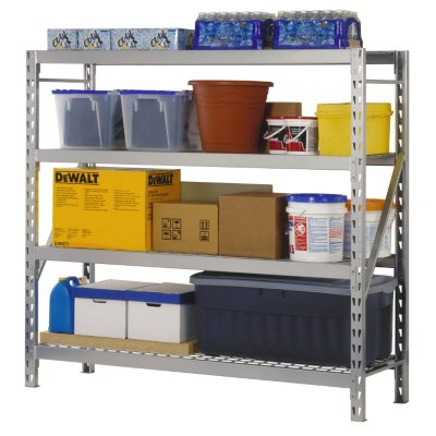 Edsal 4-Level Storage Rack with Zinc-Plated Wire Decking.  Ends: Apr 19, 2015 6:00:00 PM CDT