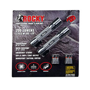 2 Pack - 200 Lumen LED Flashlight