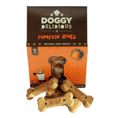 Doggy Delirious Bone Treats, Pumpkin (5 lb. Box).  Ends: Dec 19, 2014 7:15:00 AM CST