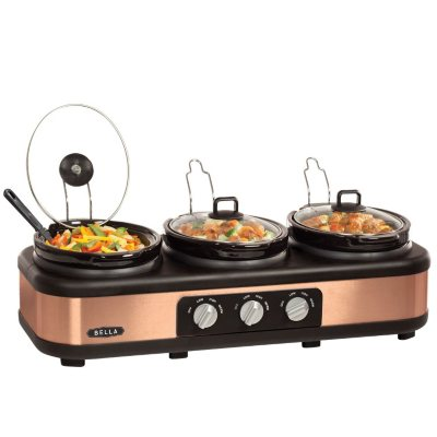 Bella 3 x 2.5QT Oval Triple Slow Cooker, Bronze.  Ends: May 29, 2015 6:00:00 AM CDT