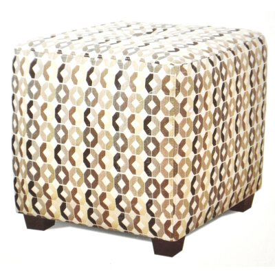 Brea Fabric Ottoman - Zigzag.  Ends: Mar 9, 2014 7:45:00 PM CDT