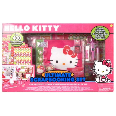 Hello Kitty Ultimate Scrapbooking Set - Over 400 Scrapbooking Essentials.  Ends: Jul 23, 2014 12:55:00 PM CDT