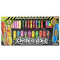Chalk-a-Doos Deluxe Dinosaurs Sidewalk Chalk