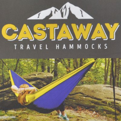 Castaway Travel & Camping Hammock, Blue/Yellow.  Ends: Jul 1, 2016 6:00:00 PM CDT