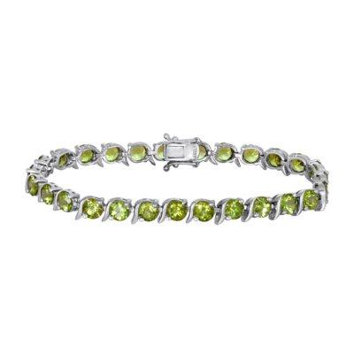"""Peridot Bracelet in Sterling Silver (7.5"""").  Ends: Mar 27, 2015 1:00:00 PM CDT"""