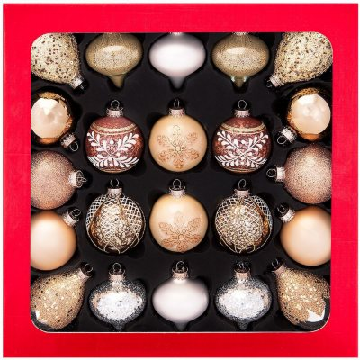 Glass Ornament Set, Gold & Silver (22 ct.).  Ends: Jan 27, 2015 10:50:00 AM CST