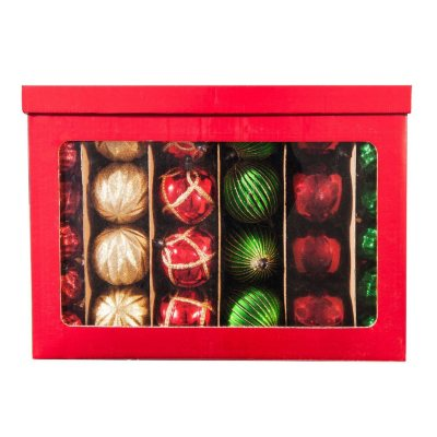Shatterproof Ornament Set, Red/Gold/Green (100 ct.).  Ends: Jan 30, 2015 6:45:00 PM CST