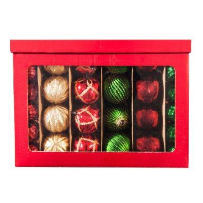 Shatterproof Ornament Set, Red/Gold/Green (100 ct.).  Ends: Jan 30, 2015 6:45:00 AM CST
