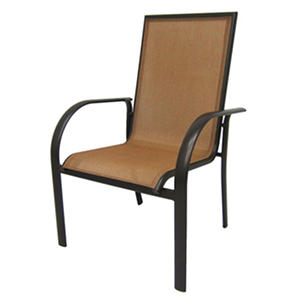 Aluminum Sling Stack Chair - Beige