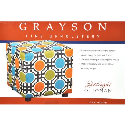 Grayson Decorative Ottoman - Spotlight
