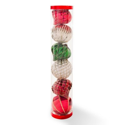 6 Count Jumbo Shatterproof Ornament Set, Timeless Tradition Red/Green/White  (5.9 Inches Each).  Ends: Jan 30, 2015 5:20:00 PM CST