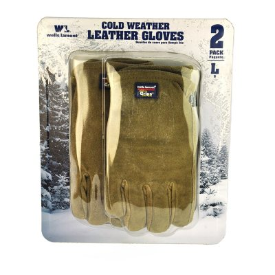 Wells Lamont Suede Leather Gloves, Large