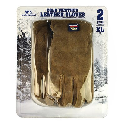 Wells Lamont Suede Leather Gloves, XLarge