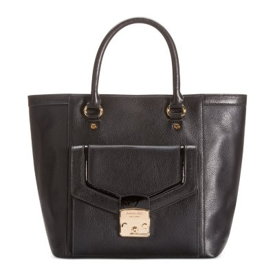 Emma Fox Leather Park Avenue Tote, Black.  Ends: May 27, 2015 5:00:00 AM CDT