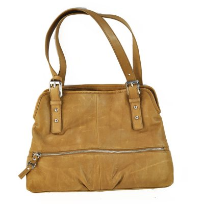 B. Makowsky Leather Shopper - Brown.  Ends: May 29, 2015 7:00:00 AM CDT