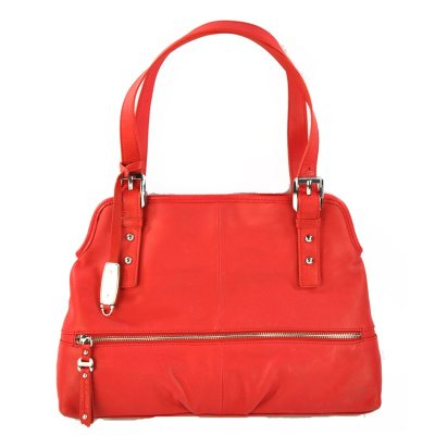 B. Makowsky Leather Shopper - Red.  Ends: Apr 28, 2015 9:00:00 PM CDT