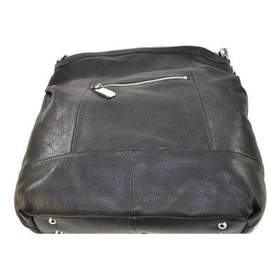 B. Makowsky Leather Hobo - Black