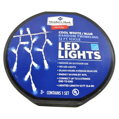 12FT LED Icicle Light White.  Ends: Jul 2, 2015 8:00:00 PM CDT
