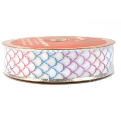 50 Yard Wired Designer Ribbon, Fish Scales.  Ends: Apr 25, 2015 8:00:00 AM CDT