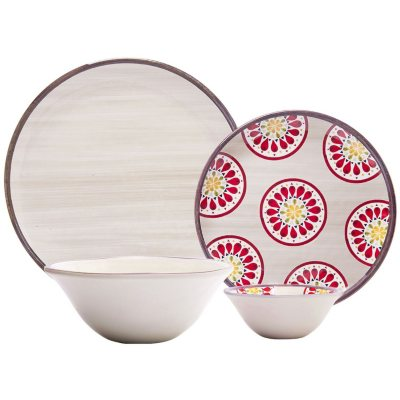 Melamine Dinnerware 16-Piece Set, Cream.  Ends: Jul 30, 2016 3:30:00 PM CDT