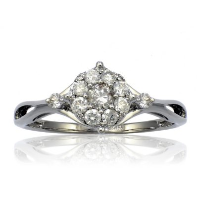 .47 CT.T.W. Diamond Ring in 14K White Gold (HI, I1)