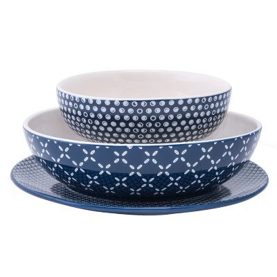 Daily Chef 6-Piece Elevated Serving Set, Blue